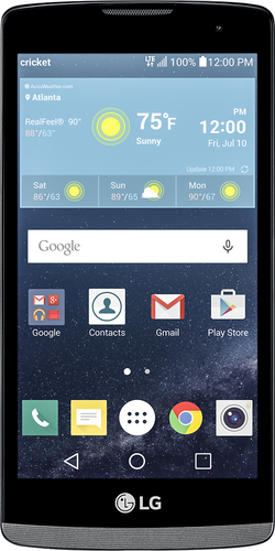 Cricket Wireless - LG Risio 4G LTE with 8GB Memory Prepaid Cell Phone - Gray
