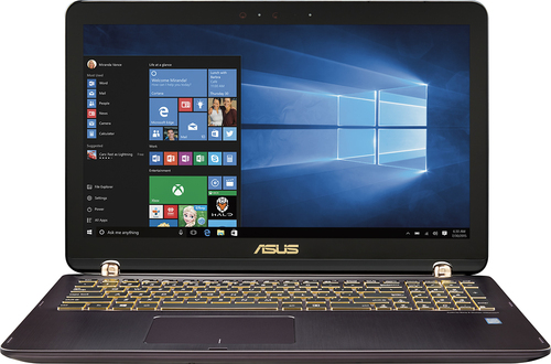 Asus - Q524UQ 2-in-1 15.6 Touch-Screen Laptop - Intel Core i7 - 12GB Memory - 2TB Hard Drive - Chocolate black aluminum hairline with dark copper