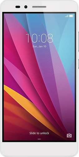 Huawei - Honor 5X 4G with 16GB Memory Cell Phone (Unlocked) - Silver