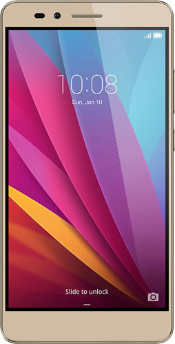 Huawei - Honor 5X 4G with 16GB Memory Cell Phone (Unlocked) - Gold