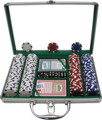 Trademark Games - 200-Piece 11.5-Gram Poker Chip Set - Red/White/Blue