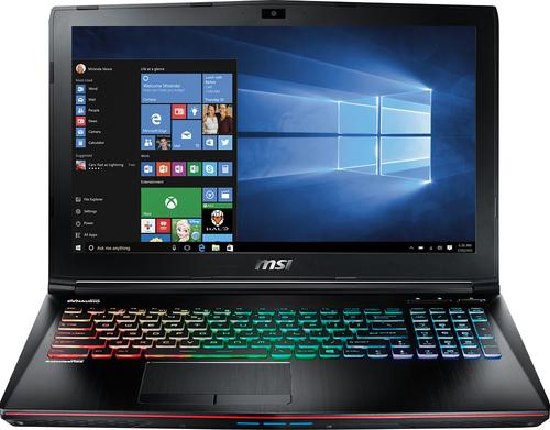 MSI - GE62 15.6 Laptop - Intel Core i7 - 16GB Memory - 1TB Hard Drive + 128GB Solid State Drive - Aluminum black