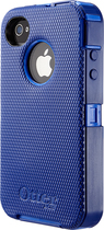 OtterBox - Defender Series Case for Apple® iPhone® 4 and 4S - Blue