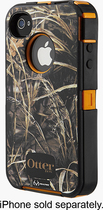 OtterBox - Defender Series Case for Apple® iPhone® 4 and 4S - Camouflage AP Blaze (Wetlands)
