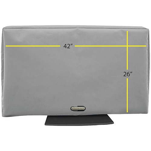 Solaire - Outdoor TV Cover for Most Flat-Panel TVs up to 42 - Gray