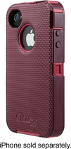 OtterBox - Defender Series Case for Apple® iPhone® 4 and 4S - Pink/Plum