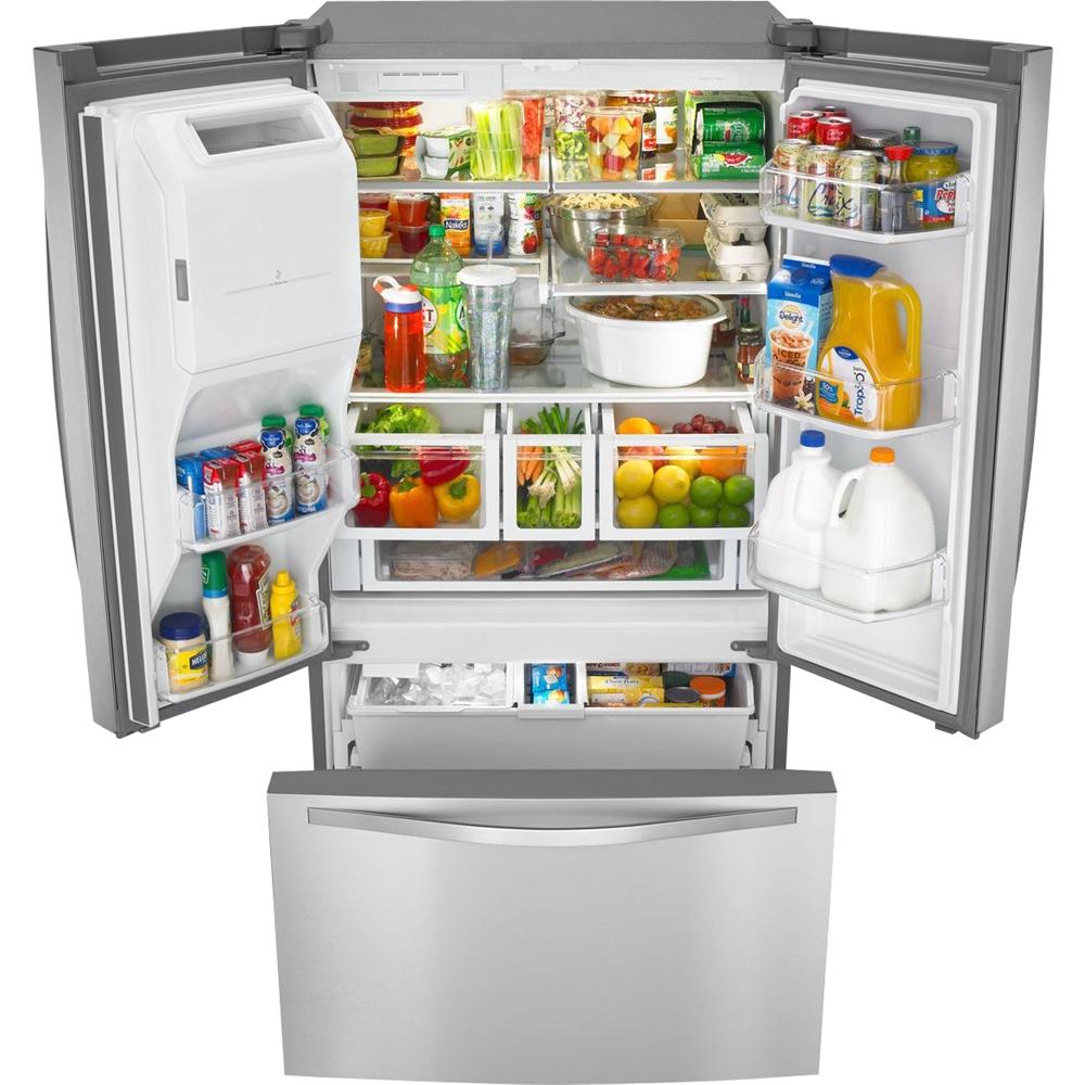 Whirlpool 270 Cu Ft French Door Refrigerator With Thru The Door