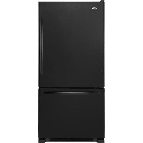 Amana - 22.1 Cu. Ft. Bottom-Freezer Refrigerator - Black