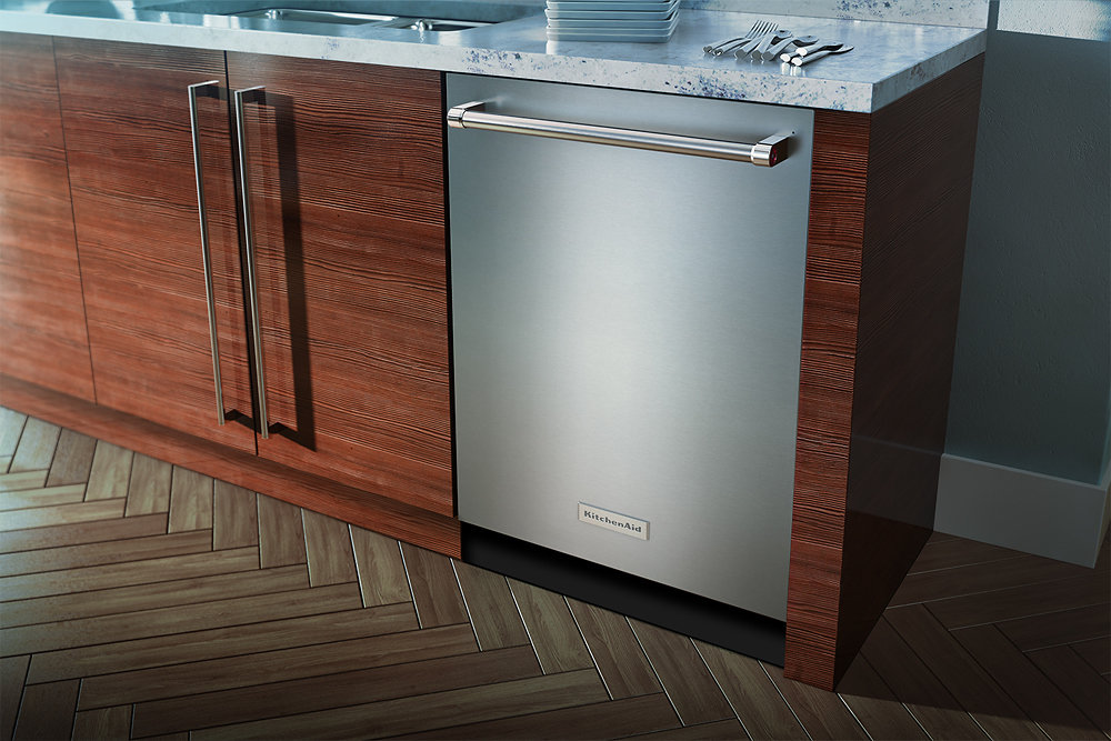 "Kitchenaid Dishwasher Stainless Steel kitchenaid - 24"" tall tub built-in dishwasher - stainless steel at"