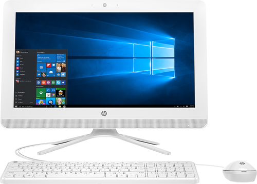 HP - 19.5 All-In-One - AMD E2-Series - 4GB Memory - 1TB Hard Drive - HP finish in snow white