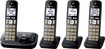 Panasonic - KX-TGD224M Dect 6.0 Expandable Cordless Phone System with Digital Answering System - Metallic black