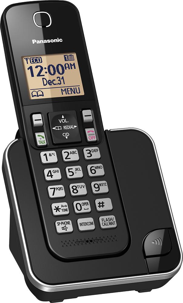 Panasonic - KX-TGC350B Dect 6.0 Expandable Cordless Phone System - Black