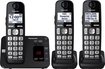 Panasonic - KX-TGE433B Dect 6.0 Expandable Cordless Phone System with Digital Answering System - Black