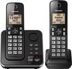 Panasonic - KX-TGC362B Dect 6.0 Expandable Cordless Phone System with Digital Answering System - Black