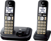 Panasonic - KX-TGD222M Dect 6.0 Expandable Cordless Phone System with Digital Answering System - Metallic black