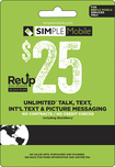 Simple Mobile - $25 ReUp Prepaid Card