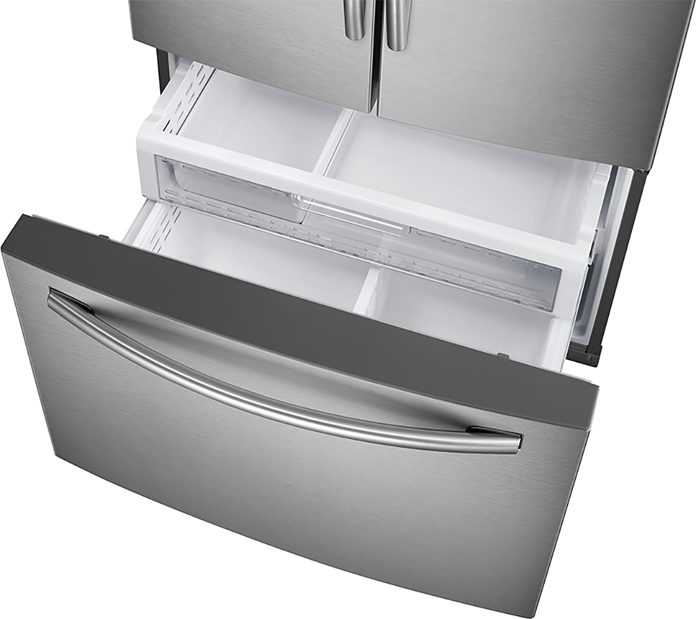 Samsung showcase 278 cu ft french door refrigerator with thru samsung showcase 278 cu ft french door refrigerator with thru the door ice and water stainless steel at pacific sales rubansaba