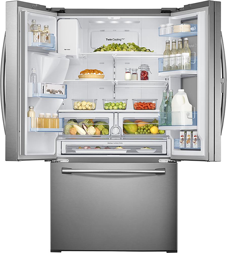 Samsung showcase 278 cu ft french door refrigerator with thru samsung showcase 278 cu ft french door refrigerator with thru the door ice and water stainless steel at pacific sales rubansaba