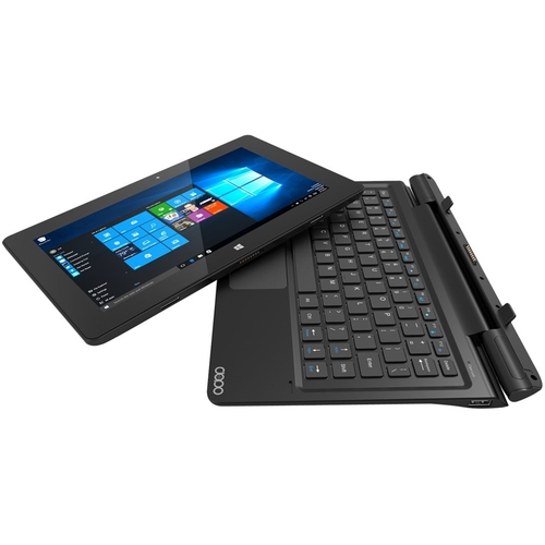Dopo - 2-in-1 10.1 Touch-Screen Laptop - 2GB Memory - 32GB Solid State Drive - Black