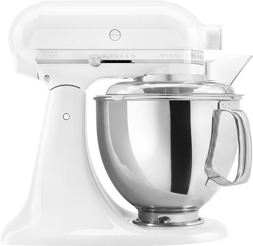 KitchenAid - Artisan Series Tilt-Head Stand Mixer - White-on-White