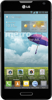 MetroPCS - LG Optimus F6 4G No-Contract Cell Phone - Black