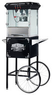 Great Northern Popcorn - Lincoln Popper Popcorn Maker with Cart - Black