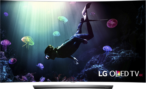 """LG - 55"""" Class - (54.6"""" Diag.) - OLED - Curved - 2160p - Smart - 3D - 4K Ultra HD TV - with High Dynamic Range - Silver"""