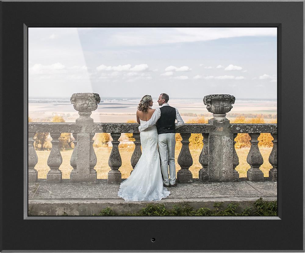Aluratek - 8 LCD Digital Photo Frame - Black