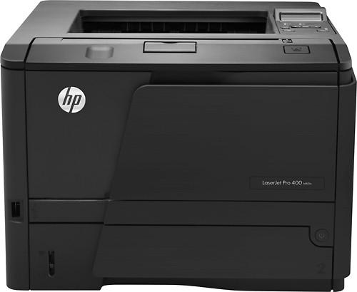 HP - LaserJet Pro M401n Black-and-White Printer - Black