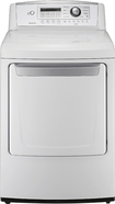 LG - 7.3 Cu. Ft. 8-Cycle Ultralarge-Capacity Electric Dryer - White