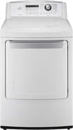 LG - 7.3 Cu. Ft. 8-Cycle Ultralarge-Capacity Gas Dryer - White