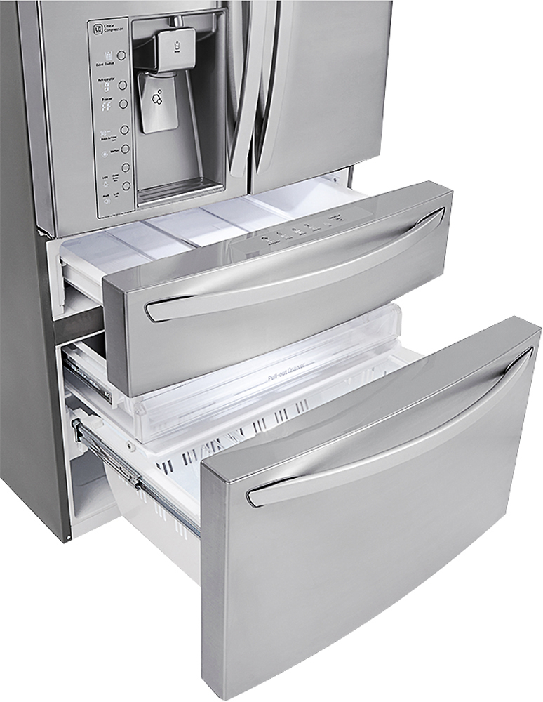 lg french 4 door refrigerator. lg - door-in-door 29.9 cu. ft. 4-door french door refrigerator with thru-the-door ice and water stainless steel at pacific sales lg 4 o