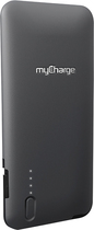 myCharge - Rechargeable 3000 mAh Power Bank Battery for Apple® iPhone® 5, 5s and 5c - Gray