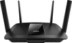 Linksys - Wireless-AC Dual-Band Smart Wi-Fi Router with 4-Port Gigabit Ethernet Switch - Black