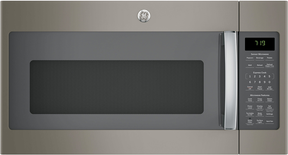 Ge 1 9 Cu Ft Over The Range Microwave With Sensor Cooking Slate At Pacific S