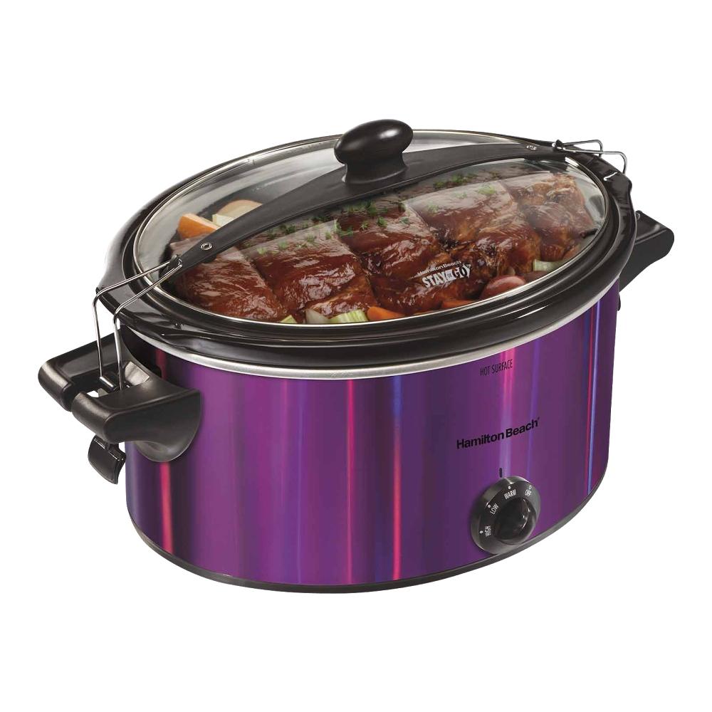 Hamilton Beach - Stay Or Go 5-quart Slow Cooker - Purple 5272601