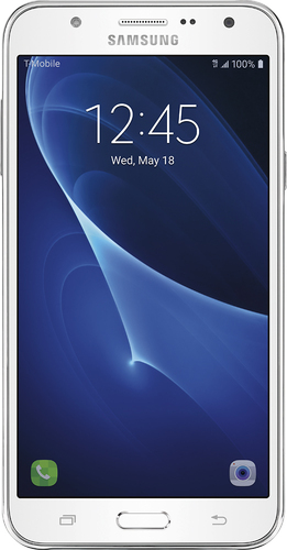 T-Mobile Prepaid - Samsung Galaxy J7 4G LTE with 16GB Memory Prepaid Cell Phone - White