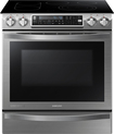 "Samsung - Chef Collection FlexDuo 30"" Self-Cleaning Slide-In Double Oven Electric Convection Range - Stainless-Steel"