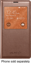 Samsung - S-View Flip Cover for Samsung Galaxy S 5 Cell Phones - Rose Gold