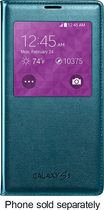 Samsung - S-View Flip Cover for Samsung Galaxy S 5 Cell Phones - Green