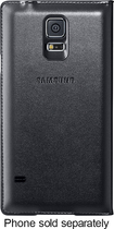 Samsung - Wallet Flip Cover for Samsung Galaxy S 5 Cell Phones - Black
