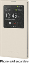 Samsung - S-View Flip Cover for Samsung Galaxy Note 3 Cell Phones - Oatmeal