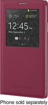 Samsung - S-View Flip Cover for Samsung Galaxy Note 3 Cell Phones - Plum Red