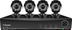 Swann - 8-Channel, 4-Camera Indoor/Outdoor DVR Security System - Black