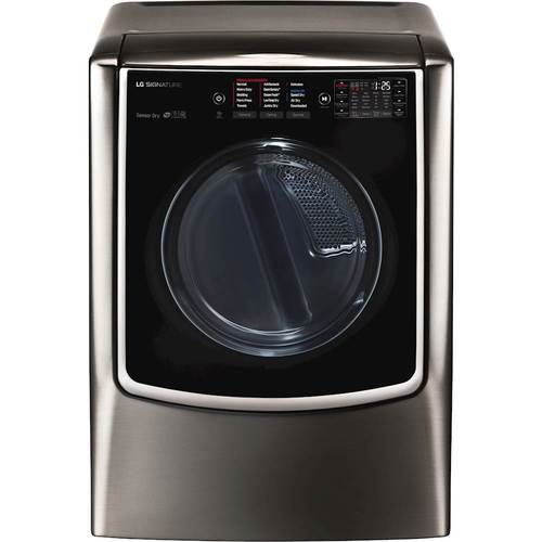 lg 90 cu ft 14cycle gas dryer with steam black