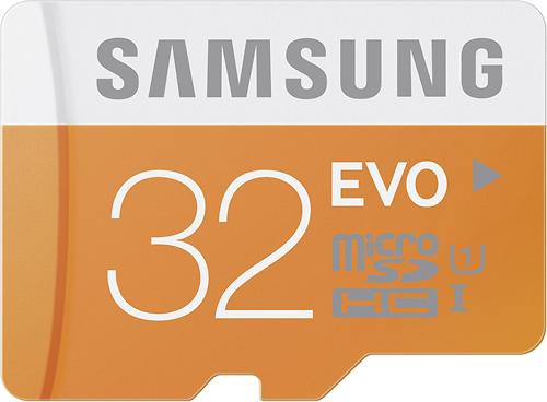 Samsung - 32GB microSD Class 10 UHS-1 Memory Card - Orange