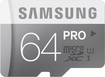 Samsung - 64GB microSD Class 10 UHS-1 Memory Card - Silver