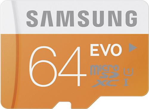 Samsung - 64GB microSD Class 10 UHS-1 Memory Card
