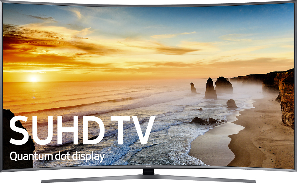 """Samsung - 88"""" Class (88"""" Diag.) - Curved -  2160p - Smart - 4K Ultra HD TV with High Dynamic Range - Silver largeFrontImage"""