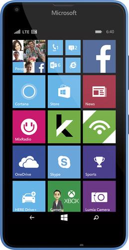 Cricket Wireless - Microsoft Lumia 640 4G LTE with 8GB Memory Prepaid Cell Phone - Cyan (Blue)